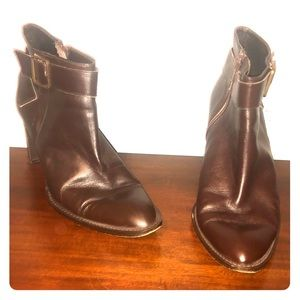 Brown banana republic booties REAL LEATHER